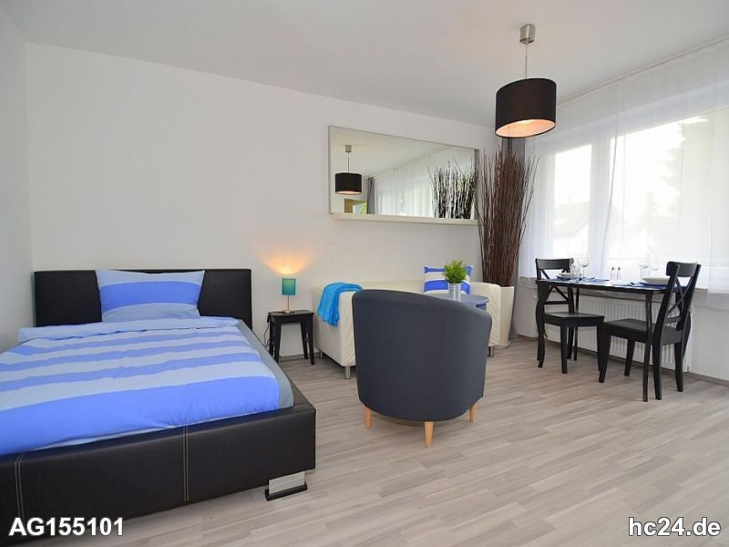 Sonnige und möblierte 1-Zimmer Wohnung in Stuttgart Stammheim