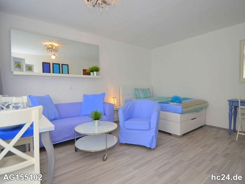 Modern möblierte 1-Zimmer Wohnung mit Balkon in Stuttgart Stammheim